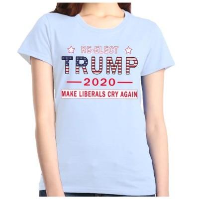 レディース 衣類 トップス Shop4Ever Women's Re-Elect Trump 2020 Make Liberals Cry Again Graphic T-Shirt Tシャツ