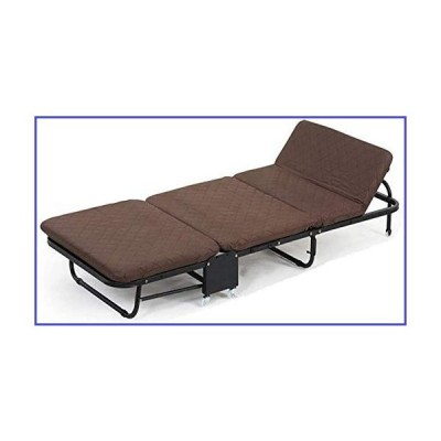 WQF Foldable Relaxer Chair Rollaway Guest Bed- Comfortable 2.5 Inch Memory Foam Mattress, Office Lounger Bed- Adults Kids Camping Traveling