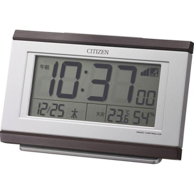 名入れ対応可 電波時計 目覚まし時計 |リズム時計 電波めざまし時計 8RZ161-006