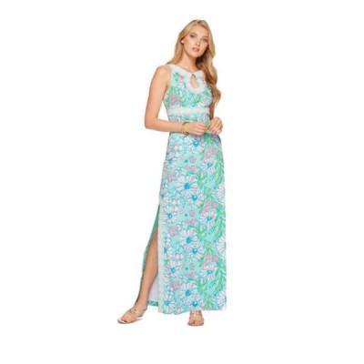 ワンピース リリーピュリッツァー Lilly Pulitzer DIDI DRESS Maxi Sand Bar Blue Splish Splash White Pink 4