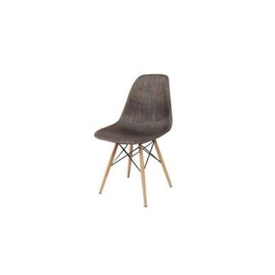 《最上級のフォルムをリビングに》イームズ DC-231P-BR DSW Dining Shell side chair Wood base メッシュ/ブラウン