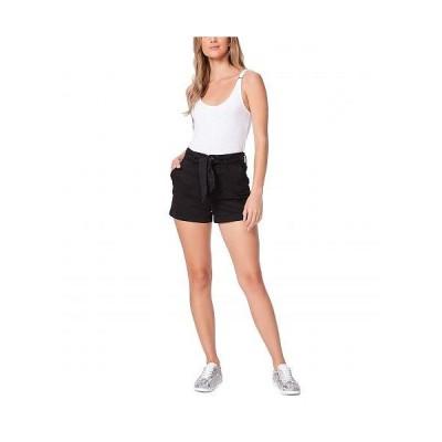 Paige ペイジ レディース 女性用 ファッション ショートパンツ 短パン Anessa Shorts w/ Tie Waist - Black Overdye