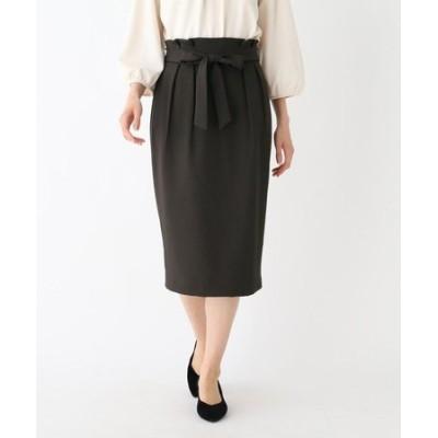 【大きいサイズあり・13号】ウエストタックタイトスカート