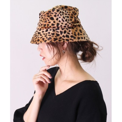 BAYBLO / 【ユニセックス】ハラコ風 レオパード バケットハット(CR) WOMEN 帽子 > ハット