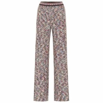 ミッソーニ Missoni レディース ボトムス・パンツ High-rise flared knit pants