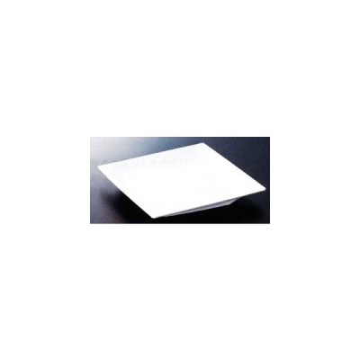 スリーラインメラミン食器 (パルホワイト)スクエアプレート210×210×26mm品番:M-7PW
