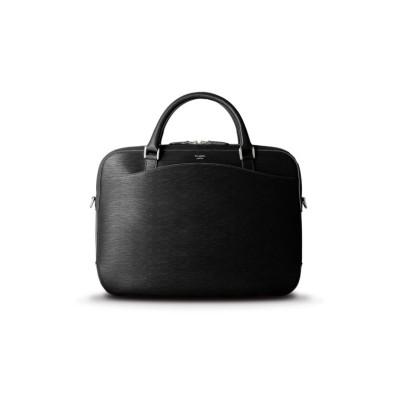 【カバンのセレクション】 ペッレモルビダ キャピターノ ブリーフケース ビジネスバッグ メンズ 本革 底鋲 A4 B4 PELLE MORBIDA ca202 メンズ ブラック フリー Bag&Luggage SELECTION