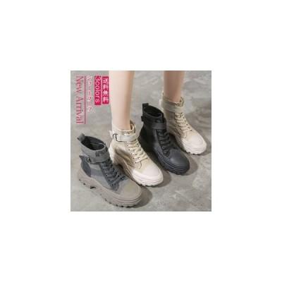 ショートブーツ レディース レースアップ マーティンブーツ 厚底 疲れにくい 歩きやすい フラットシューズ 靴 春秋 きれいめ 美脚 おしゃれ