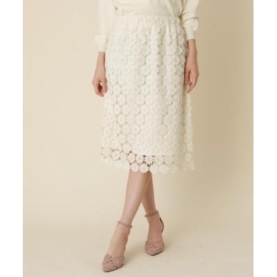 Couture Brooch(クチュールブローチ) 【WEB限定サイズ(S・LL)あり】フラワーレース タイトスカート