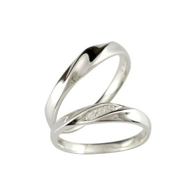 ペアリング 人気 結婚指輪 マリッジリング プラチナ ダイヤモンド ダイヤ ストレート カップル 送料無料