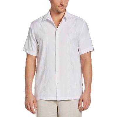 キューバベラ メンズ シャツ トップス Men's Embroidered Panel Shirt Brilliant White