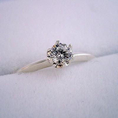 1万円 婚約指輪 一万円 プロポーズ用リング 告白用 サプライズ用 エンゲージリング 一粒 ブライダルジュエリー シルバー キュービックジルコニア