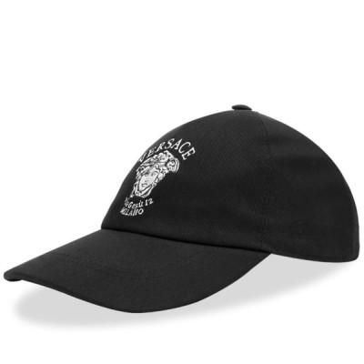 ヴェルサーチ Versace メンズ キャップ 帽子 Logo Cap Black