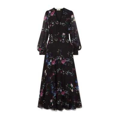 EQUIPMENT ロングワンピース&ドレス ブラック XS シルク 100% / ポリエステル / ポリウレタン ロングワンピース&ドレス