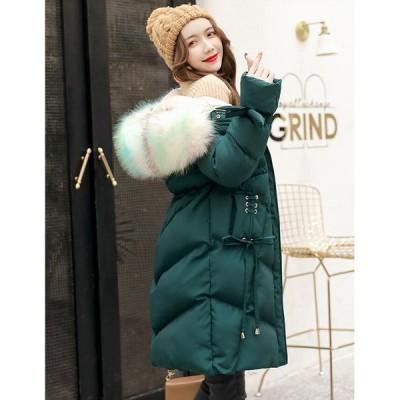 防寒 軽量 防風 キレイめ 暖かい ダウンジャケット 女性 中綿 ロング丈 アウター カジュアル ファッション フォーマル 通勤 OL オフィス 学生 冬用