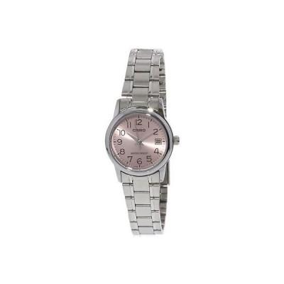 腕時計 カシオ Casio Women's LTPV002D-4B Silver Stainless-Steel Japanese Quartz Fashion Watch
