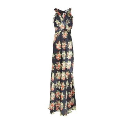 パコ ラバンヌ PACO RABANNE ロングワンピース&ドレス ダークブルー 38 ポリエステル 100% ロングワンピース&ドレス