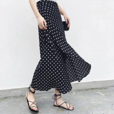 スカート大きいサイズ 40代 30代 20代 冬 春 新作 ロング