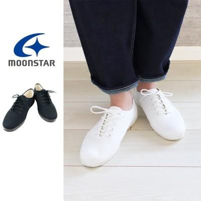 返品交換送料無料  Moonstar ムーンスターLITE UBAL スニーカー レディース キャンバス レースアップ スニーカー 靴 20代 30代 40代 50代 lite-ubal