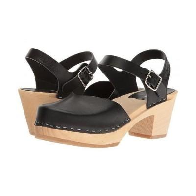 Swedish Hasbeens スウェディッシュハズビーンズ レディース 女性用 シューズ 靴 クロッグ ミュール Covered High - Black