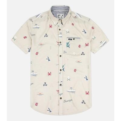 ジェッティ シャツ メンズ トップス Jetty Men's Shenanigans Woven Shirt Cream