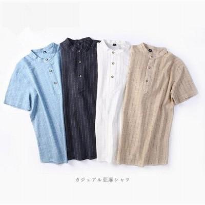 シャツ メンズ カジュアルシャツ 春 夏 秋 チェック 半袖 亜麻 ストレッチ シャツ メンズ トップス 短袖シャツ ネルシャツfde49