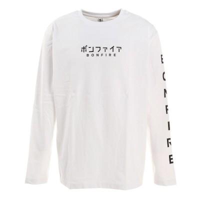 ボンファイアKANA HC 長袖Tシャツ 50BNF1SCD2161 WHTホワイトM