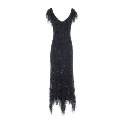 .AMEN. ロングワンピース&ドレス ブラック 40 レーヨン 100% ロングワンピース&ドレス