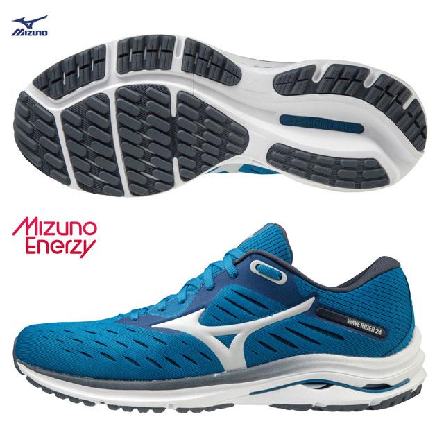 【美津濃MIZUNO】WAVE RIDER 24  一般型男款慢跑鞋 J1GC200338