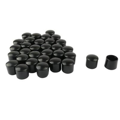 uxcell 家具保護パッド 耐湿性 家具用 PVC レッグキャップ 先端カップ フィートカバー 内径16mm 32個入り