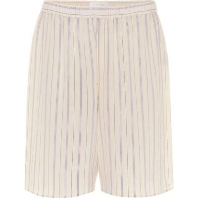 クロエ Chloe レディース ショートパンツ ボトムス・パンツ striped silk shorts Buttercream
