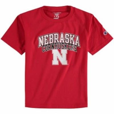 Champion チャンピオン スポーツ用品  Champion Nebraska Cornhuskers Youth Scarlet Jersey T-Shirt