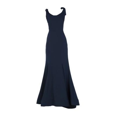 MIKAEL AGHAL ロングワンピース&ドレス ダークブルー 2 ポリエステル 100% ロングワンピース&ドレス