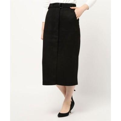 スカート スエードポンチタイトスカート