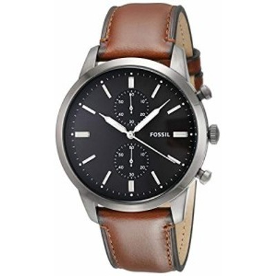 腕時計 フォッシル メンズ Fossil Men's Townsman Quartz Leather Chronograph Watch, Color: Smoke, Brow