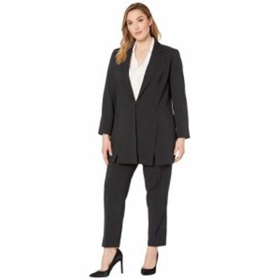 Tahari by ASL タハリバイエーエスエル スーツ 一般 Plus Size Pinstripe Topper Jacket Pants Suit