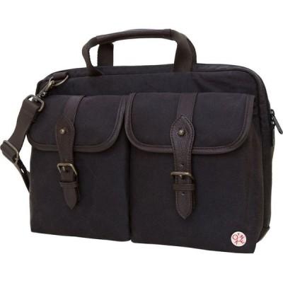 """トーケン Token レディース パソコンバッグ バッグ Waxed Knickerbocker 13"""" Laptop Bag Dark Brown"""