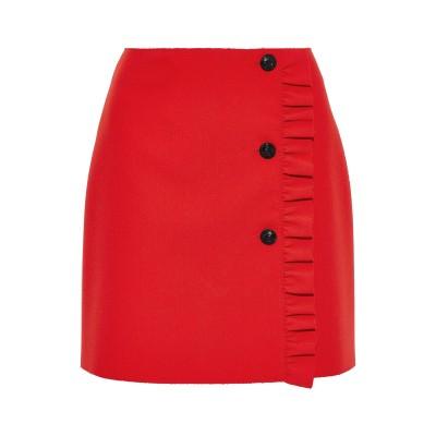 エムエスジーエム MSGM ひざ丈スカート レッド 44 ポリエステル 84% / レーヨン 10% / ポリウレタン 6% ひざ丈スカート