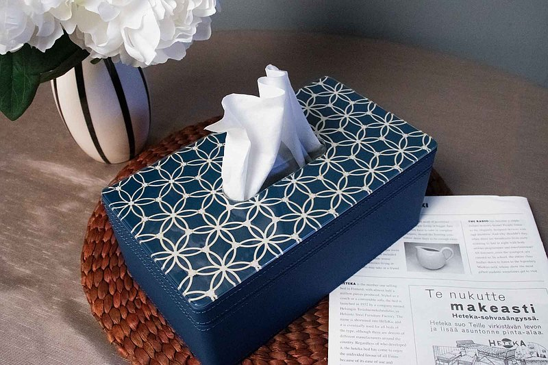 【預購】ISL Islam ‧ 和平之音面紙盒│沉穩藍│皮革│居家生活
