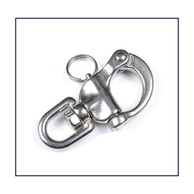 "Mxeol Swivel Eye Snap Shackle Quick Release Bail Rigging Sailing Boat Marine Stainless Steel Clip Pair (3.5"" Pair)【並行輸入品】"