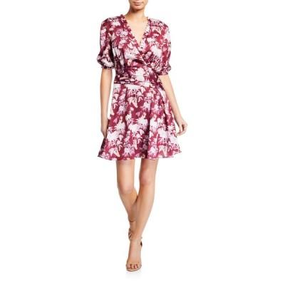 スリーフロア レディース ワンピース トップス Capricious Printed Elbow-Sleeve Mini Dress