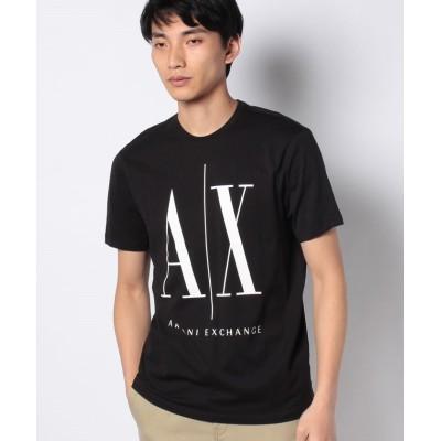 【アルマーニエクスチェンジ】 Icon T-Shirt メンズ ブラック XS ARMANI EXCHANGE