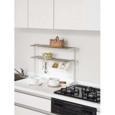 キッチンラック タブレットホルダー付き 伸縮タイプ(1312244) 【送料無料】(キッチン収納、キッチンラック、スタンド)