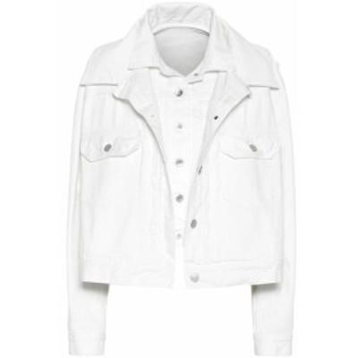 サカイ Sacai レディース ジャケット Gジャン アウター Denim jacket White