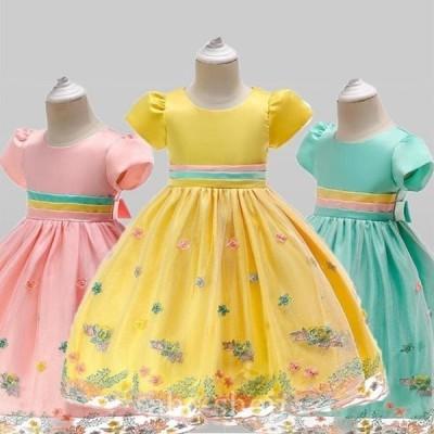 子供ドレスフォーマル子供ドレスドレス子どもドレスドレス七五三発表会女の子キッズワンピース発表会ウエストビジュードレスドレス安い