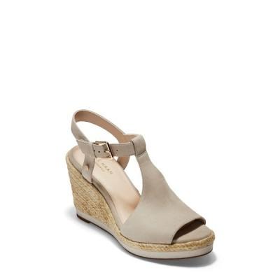 コールハーン サンダル シューズ レディース Cloudfeel Espadrille Wedge Sandal Pumice Stone Leather