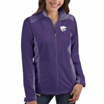 Antigua アンティグア スポーツ用品  Antigua Kansas State Wildcats Womens Purple Revolve Full-Zip Jacket