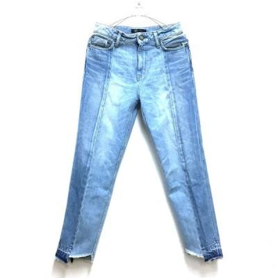 【中古】ジェット JET LOS ANGELES 17SS フレイドヘム クロップド デニムパンツ ジーンズ 4 ブルー 青 SSAW レディース【ベクトル 古着】