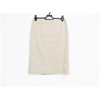 バーバリーロンドン Burberry LONDON スカート サイズ36 M レディース ベージュ ジップアップ【中古】20201007