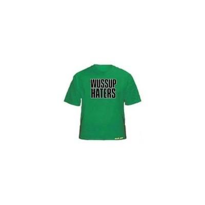 スケボー シェイクジャント Tシャツ トップス SHAKE JUNT スケートボード スケボ SHIRT - WASSUP HATERS グリーン サイズ ラージ